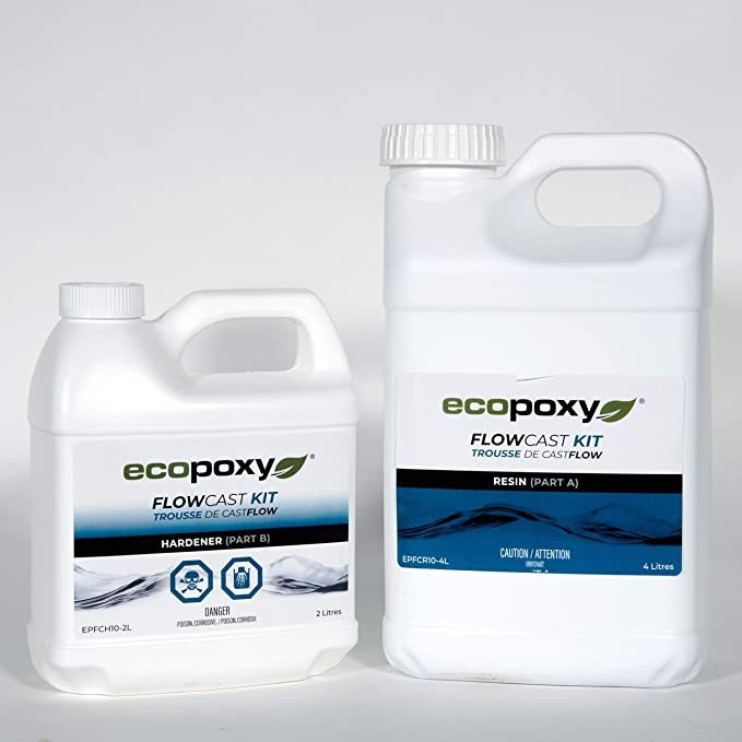 ecopoxy - אקופוקסי 6 ליטר - אפוקסי שקוף ליציקה איכותי